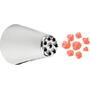 Ateco Multi-Opening Pastry Tube, Stainless Steel Seamless Design - # 234 (Large Grass / Hair)