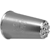 Ateco Multi-Opening Pastry Tube, Stainless Steel Seamless Design - # 133 (Grass)