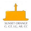 Chefmaster Liqua-Gel Food Color 2.3 oz. - Sunset Orange