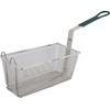 Winco Fry Basket w/Non-Slip Sleeve - Green Handle: 13-1/4