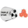 Ateco Multi-Opening Pastry Tube, Stainless Steel Seamless Design - # 2010 (Triple Open Star)