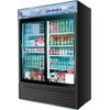 Turbo Air TGM-48R 2 Sliding Glass Door Refrigerated Merchandiser - 48 cu. ft. - Black Cabinet