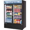 Turbo Air TGM-50RS 2 Swing Glass Door Merchandiser - 50 cu. ft. - Black Cabinet
