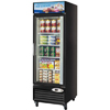 Turbo Air TGF-23F Single Glass Door Reach-In Freezer - 23 cu. ft. - Black