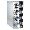Dispense-Rite Countertop 3-Cup Dispensing S/S w/ Built-In Lid & Straw Organizer - Left