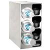 Dispense-Rite Countertop 4-Cup Dispensing S/S w/ Built-In Lid & Straw Organizer - Left