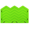 Chevron Onlay Silicone Fondant Stencil by Marvelous Molds - Large (3 Peaks)