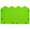 Chevron Onlay Silicone Fondant Stencil by Marvelous Molds - Medium (4 Peaks)