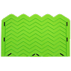 Chevron Onlay Silicone Fondant Stencil by Marvelous Molds - Small (5 Peaks)