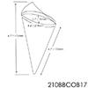 PacknWood 2-Layer Bamboo Leaf Cone - 6.7