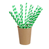 Packnwood Natural Unwrapped Paper Straws - Green