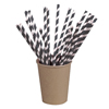 Packnwood Natural Unwrapped Paper Straws - Black