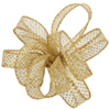 Bolten Wired Edge Ribbon, 5/8 Inch Wide, Roll of 50 Yards - Gold