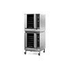 Moffat G32D5 Turbofan LP Gas Convection Oven Digital Full Size 5 Pan - Double With Stacking Kit With Casters