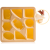 Silicandy Flexible Silicone Tray, 9 cavities with cover - White Cream