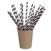 Packnwood Natural Unwrapped Paper Straws - Black