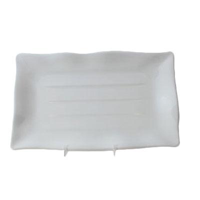 Wave Edge Rectangular Melamine Plate, 13-1/2