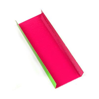 Folded Bottom Mono Board, Green & Pink, 1 7/9