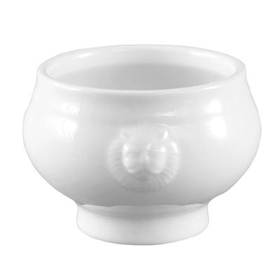 CAC 15 Oz Lion Head Soup Taureen  - Super White
