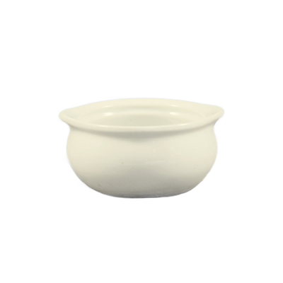 CAC OC-12 Onion Soup Bowl Crock - American White