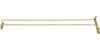 Winco Wire Glass Hanger/Holder Rack, Brass Plated - 24