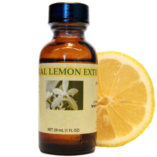 Bakto Flavors Natural Lemon Extract, 29 ml (1 Fl Oz) - 002299