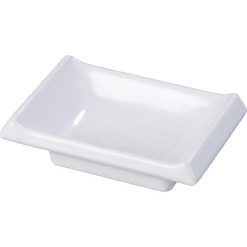 Carlisle 086402 Melamine Japanese Sauce Dish, White 86402