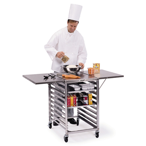 Lakeside-Wing-Table-Stainless-Steel-Top Product Image 1557