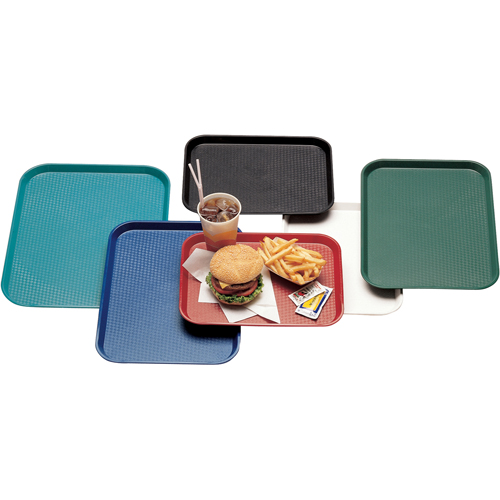 "Cambro 1216FF Fast Food Tray 11-7/8"" x 16-1/8"" - Navy Blue 1216FF186"