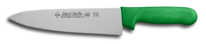 "Dexter Russell S145-8G, 8"" Sani-Safe Cook's Knife, Green Handle - 12443G 12443G"
