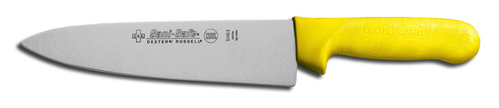 "Dexter Russell S145-8Y, 8"" Sani-Safe Cook's Knife, Yellow Handle - 12443Y 12443Y"