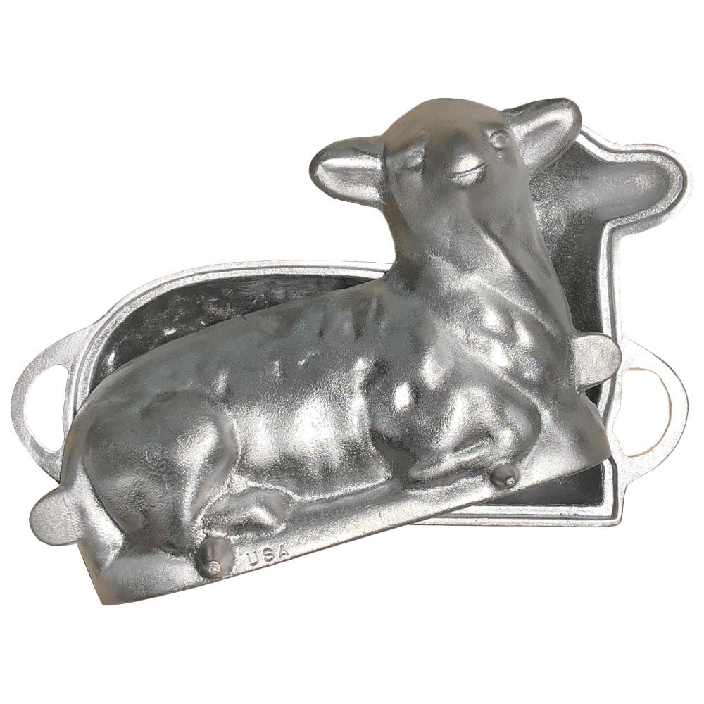12 Lamb Cake Mold Heavy Duty Aluminum