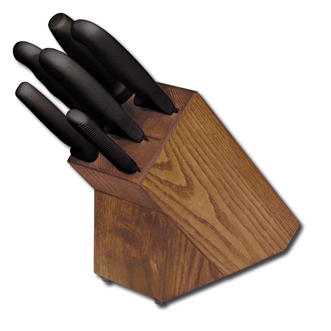 Dexter Russell HSGB-3 SofGrip Block Set, Black Handles - 21009 21009