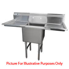 One-Compartment-Nsf-Commercial-Sink-Two-Drainboards-Bowl-Size Product Image 1873