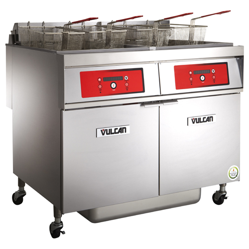 Vulcan Electric Freestanding Fryer Lb Oil Cap Solid State Digital Control