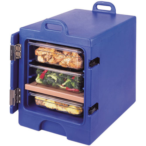 High-class Cambro Mpc Insulated Front Loading Camcarrier Slate Blue Product Photo