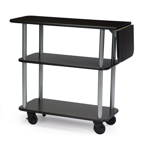 Popular Geneva Service Cart Drop Leaf Rectangular Suede Product Photo