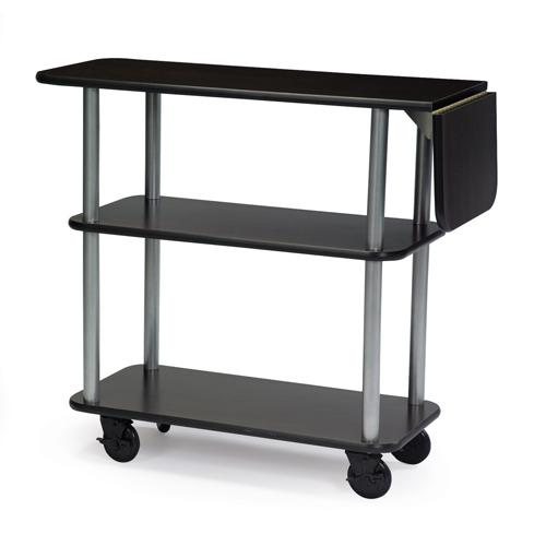 Geneva-Service-Cart-Drop-Leaf-Rectangular-Beige-Suede Product Image 1010
