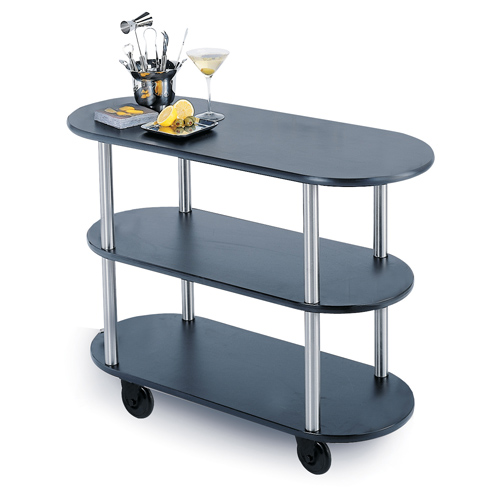 Geneva-Service-Cart-Flat-Top-Oval-Pewter-Brush Product Image 1598