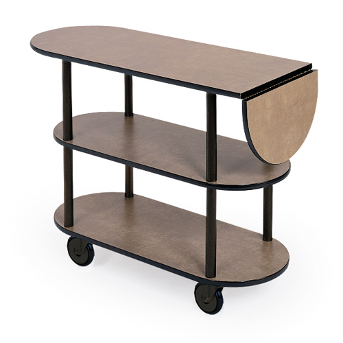 "Geneva 36202 Service Cart With 10"" Drop Leaf - Oval - Gray Sand 36202"