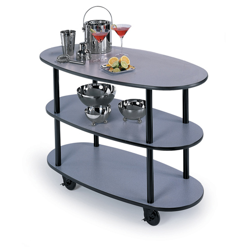 Optimal Geneva Service Cart Flat Top Round Oval Suede Product Photo