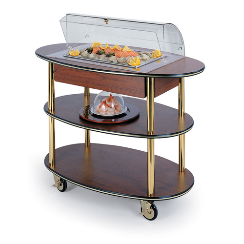 Geneva-Dessert-Display-Cart-Dome-Cover-Top-Cut-Out-Round-Oval Product Image 922
