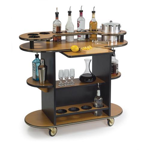 Geneva Liquor Cart Ebony Wood