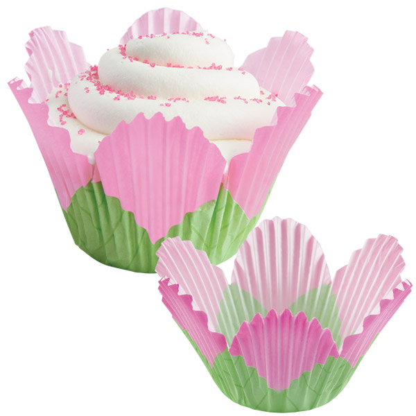 Wilton Pink Petal Disposable Paper Baking Cups, 24 Count 415-1375