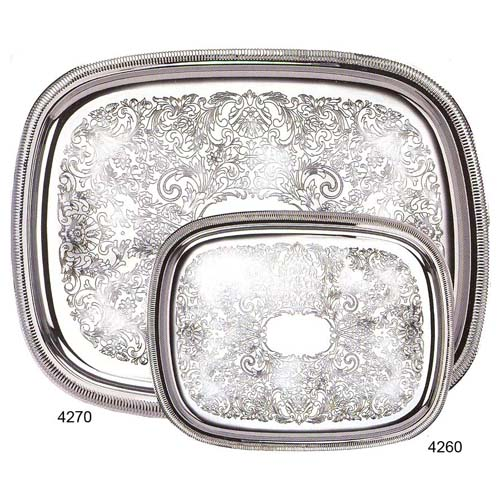 Eastern-Tabletop-Gadroon-Border-Silverplate-Rectangular-Tray Product Image 2177