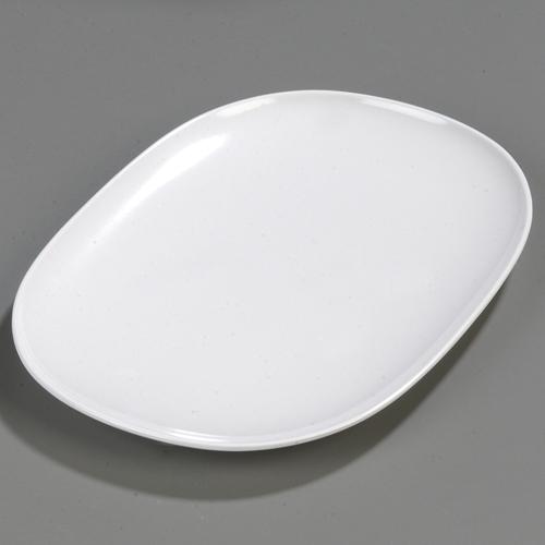"""Carlisle Melamine Dinnerware Oblong Platters 14"""" x 10"""" White"""