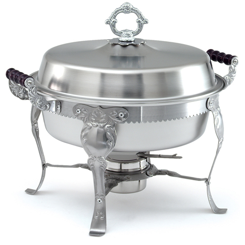 Serious Vollrath Lift Off Chafing Dish Round qt L Complete Product Photo