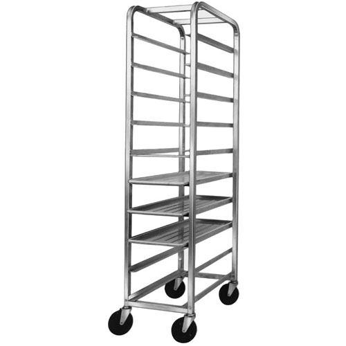 """Channel Platter / Meat-Tray Rack 70"""" High: for 18-Inch-Wide Trays - For 12 Trays. Rack is Aluminum"""
