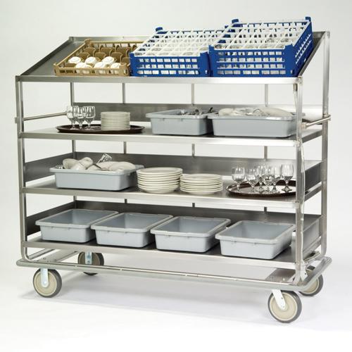 Lakeside-Soiled-Dish-Breakdown-Cart-Flat-Angled-Shelves Product Image 484