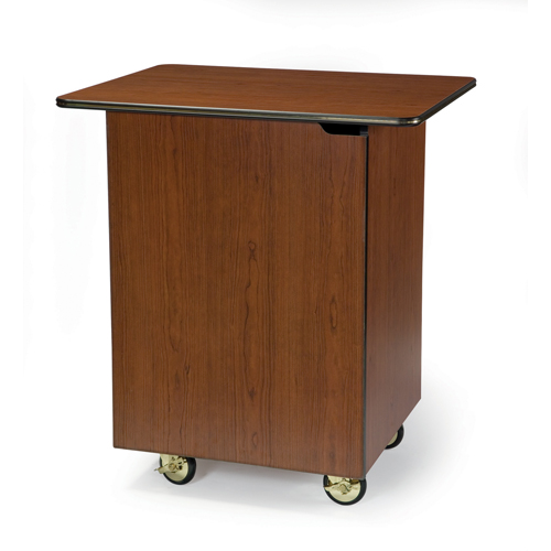 Geneva-Compact-Enclosed-Service-Cart-Hinged-Door-Fixed-Shelf Product Image 1132